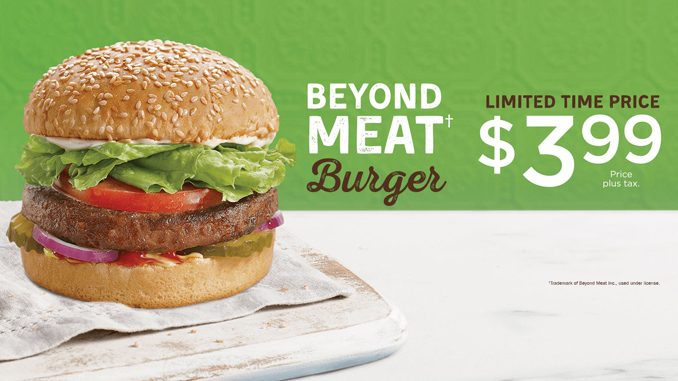 $3.99 Beyond Meat Burger Deal At A&W Canada For A Limited Time
