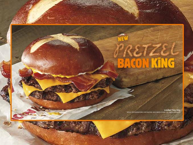 Burger King Canada Introduces New Pretzel Bacon King