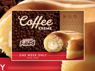 Krispy Kreme Canada Offers New Original Filled Coffee Kreme Doughnut Through September 29, 2019