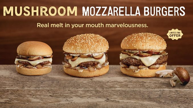 A&W Canada Welcomes Back Mushroom Mozzarella Burgers