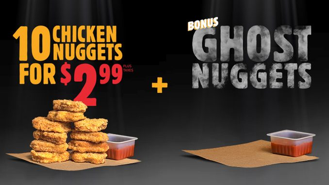 Burger King Canada Introduces New Ghost Nuggets