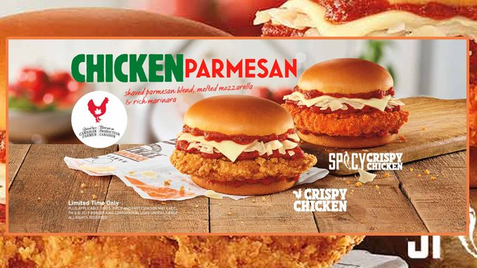 Burger King Canada Welcomes Back Chicken Parmesan Sandwiches
