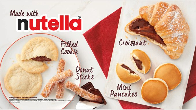 Tim Hortons Debuts New Mini Pancakes Stuffed With Nutella As Part Of Returning Nutella-Themed Lineup