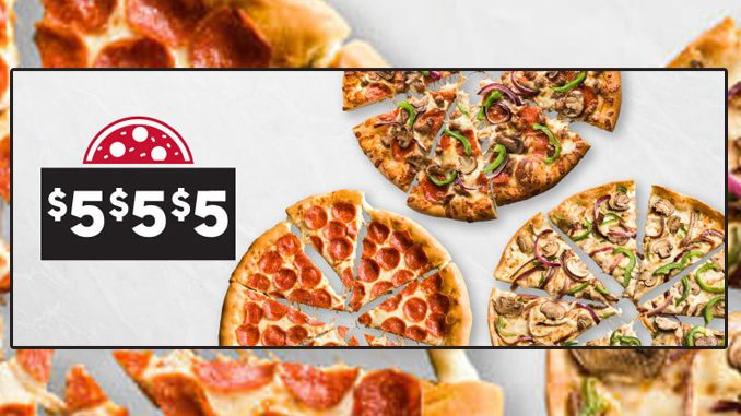 Pizza Hut Canada Brings Back $5 $5 $5 Pizza Deal