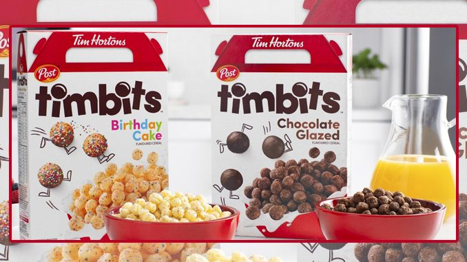 Tim Hortons Debuts 2 New Timbits Cereal Flavours