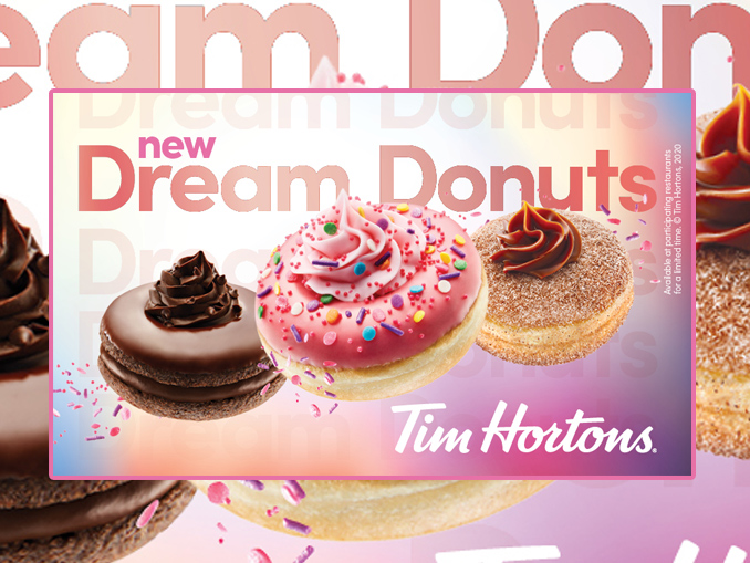 Tim Hortons Debuts New Lineup Of Dream Donuts