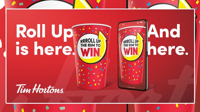 Roll Up The Rim To Win Returns To Tim Hortons On March 11, 2020