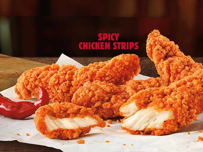 Burger King Canada Introduces New Spicy Chicken Strips