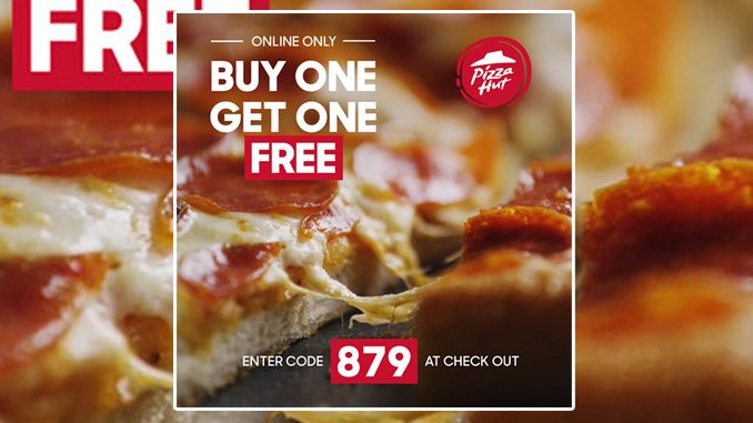Buy One, Get One Free Online Pizza Deal At Pizza Hut Canada