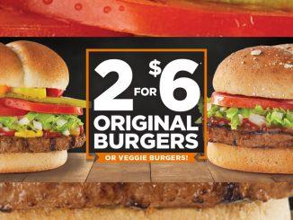 Harvey's Brings Back 2 For $6 Original Burgers Deal