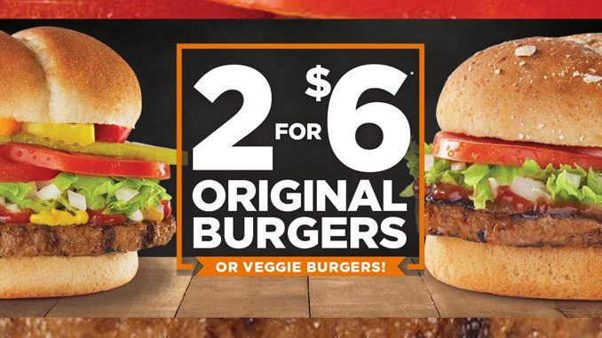 Harvey's Brings Back 2 For $6 Original Burgers Deal