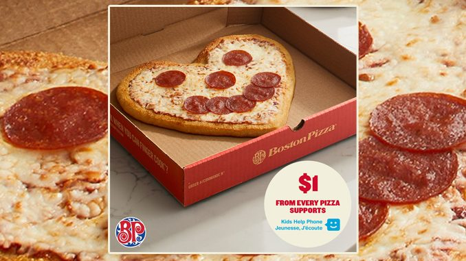 Boston Pizza Introduces Heart-Shaped Smile Pizza