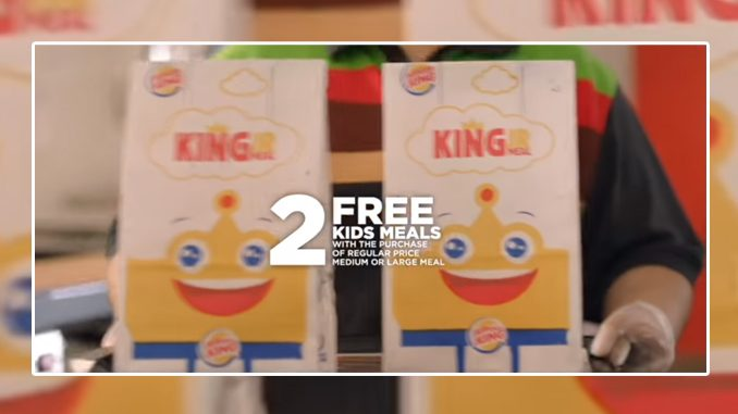 Burger King Canada Offers 2 Free Kids Meals With Meal Purchase Through April 12, 2020