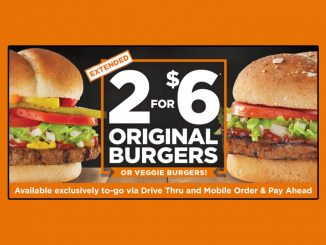 Harvey's Extends 2 For $6 Original Burgers Promotion