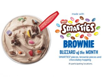 Smarties Brownie Blizzard Is The April 2020 Blizzard Of The Month At Dairy Queen Canada