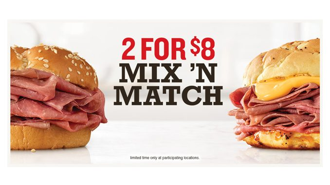 Arby's 2 For $8 Mix 'N Match Deal Is Back For A Limited Time