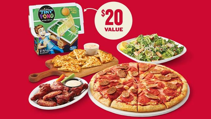 Boston Pizza Adds New Family Game Night Meal Deal That Includes Free Tiny Pong Game