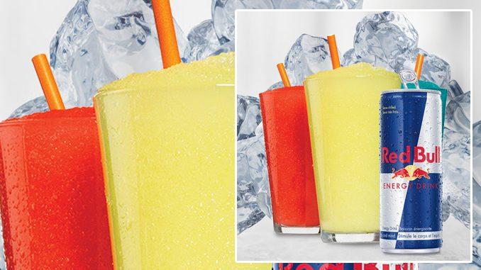 Harvey's Pours New Red Bull Slushie Frozen Beverages