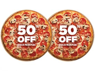 Pizza Pizza Offers 50% Off Regular Priced Pizzas On July 1, 2020
