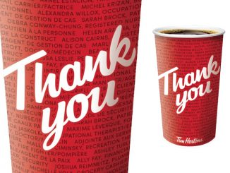 Tim Hortons Honours Essential Workers With Their Names On Limited-Edition Hero Cups