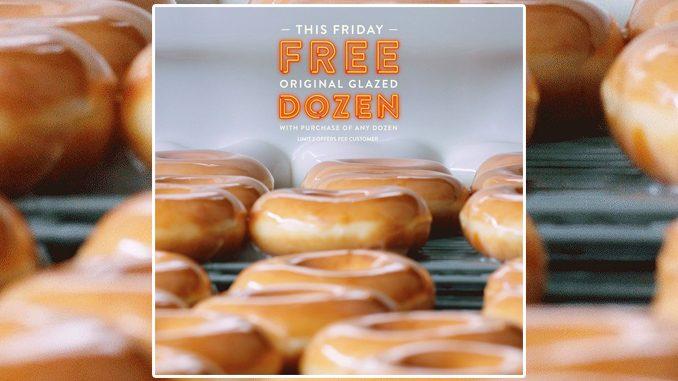 Krispy Kreme Canada Offers Free Original Glazed Dozen With Purchase Of Any Dozen On July 17, 2020
