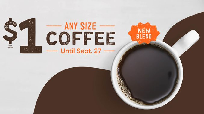 &W Canada Offers $1 Any Size Coffee Deal Through September 27, 2020