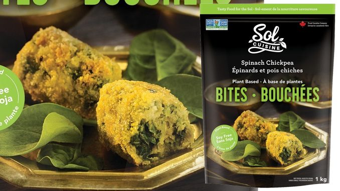 Canada's Sol Cuisine Launches New Plant-Based Spinach Chickpea Bites At Costco