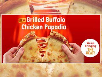 Papa John's Canada Adds New Grilled Buffalo Chicken Papadia