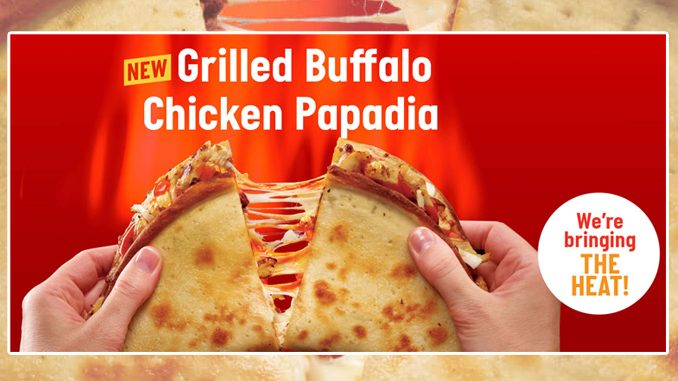 Papa John's Canada Adds New Grilled Buffalo Chicken Papadia