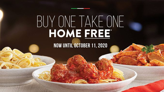 Buy One Entree, Take One Home For Free At East Side Mario's Through October 11, 2020