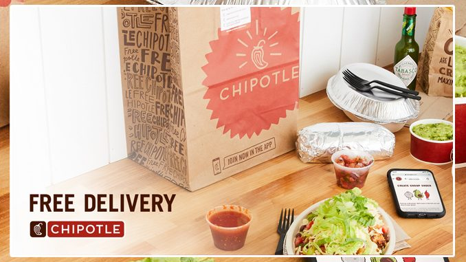 Chipotle Canada Offers Free Delivery On All Orders Of $12 Or More Through September 28, 2020