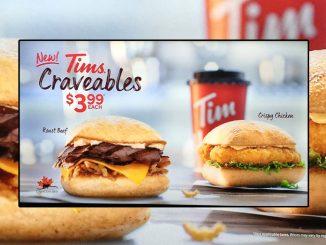 Tim Hortons Introduces New Tims Craveables Menu
