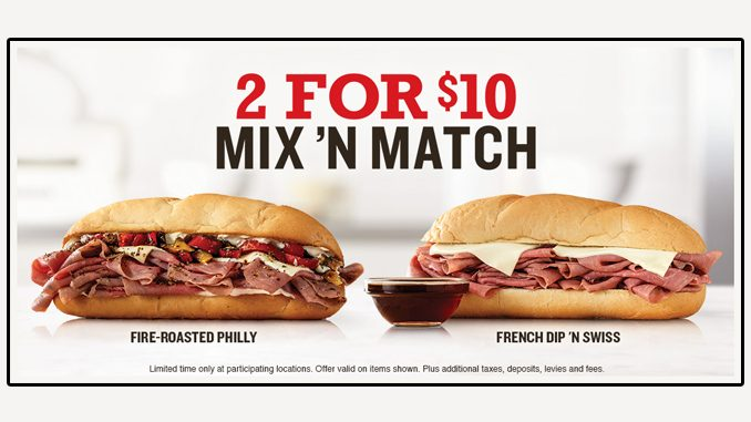 Arby's Canada Puts Together New 2 For $10 Mix 'N Match Deal
