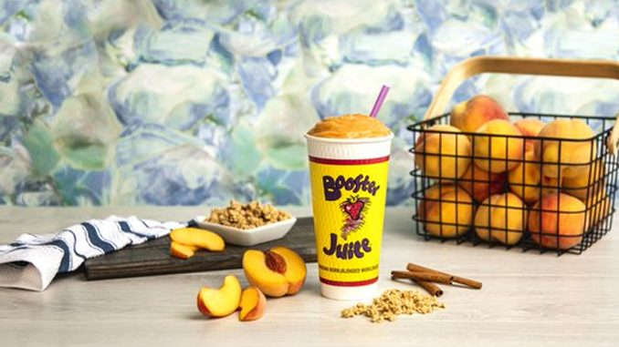 Booster Juice Blends New Peach Crumble Smoothie