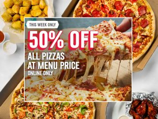 Domino's Canada Offers 50% Off All Menu Priced Pizzas Ordered Online Through October 18, 2020
