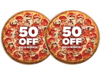 Pizza Pizza Offers 50% Off Regular Priced Pizzas Ordered Online On October 8, 2020