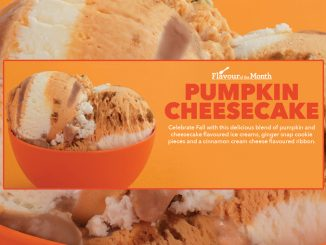 Pumpkin Cheesecake Is The October 2020 Flavor Of The Month At Baskin-Robbins Canada