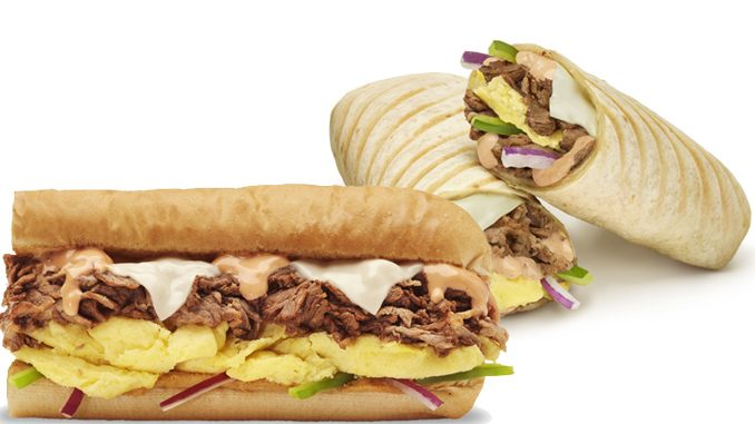 Subway Canada Introduces New Southwest Steak & Egg Sandwich And Wrap