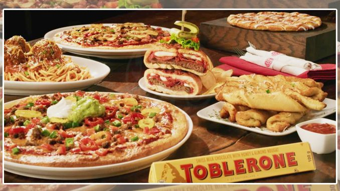 Boston Pizza Offers Free Toblerone With Any Entree Purchase On The 2020 Holiday Menu