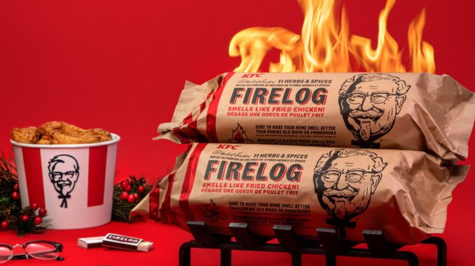 KFC Canada Launches Fried Chicken-Scented Firelogs At Canadian Tire