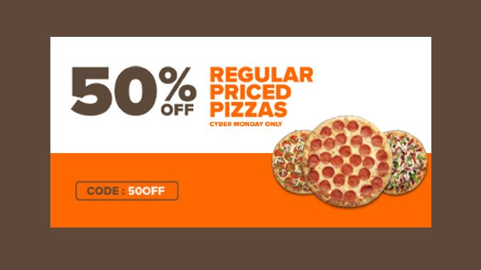 Pizza Pizza Offers 50% Off Regular-Priced Pizzas On November 30, 2020