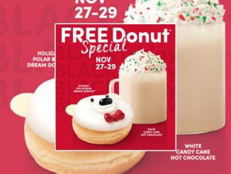 Tim Hortons Offers Free Donut With Beverage Purchase In The App Through November 29, 2020