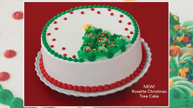 Baskin-Robbins Canada Adds New Rosette Christmas Tree Cake