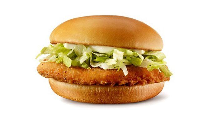McDonald's Canada Offers $1 Junior Chicken Sandwich On December 24, 2020