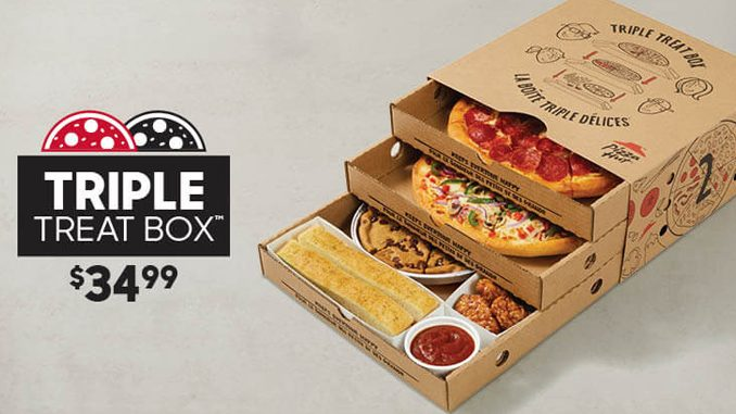 The Triple Treat Box Is Back At Pizza Hut Canada For The 2020 Holiday Season