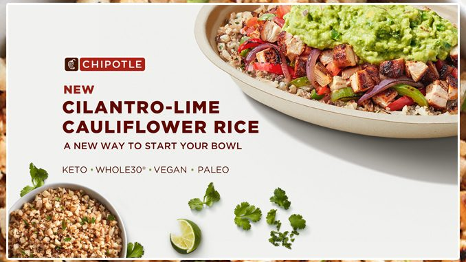 Chipotle Canada Releases New Cilantro-Lime Cauliflower Rice