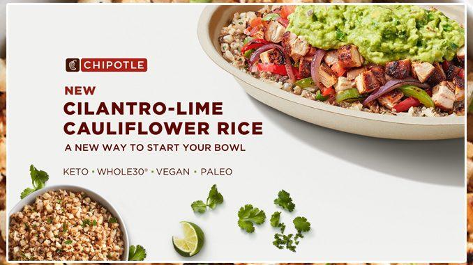 Chipotle Canada Releases New Cilantro-Lime Cauliflower Rice