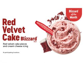 Dairy Queen Canada Welcomes Back Red Velvet Cake Blizzard