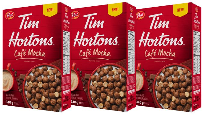Post Canada Launches New Tim Hortons Cafe Mocha Flavoured Cereal