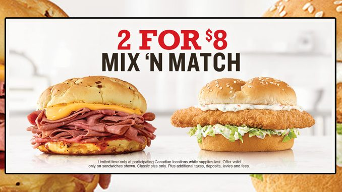 Arby's Canada Puts Together 2 For $8 Mix 'N Match Deal